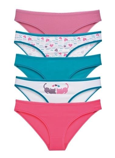 Sensu Kadın Basic Külot Karışık Renkler 5'Li Paket Kts1052 Renkli